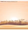 Mideast Cityscape Panorama vector image vector image