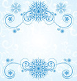 blue snowflakes vector image