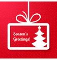Christmas applique cardbackground vector image