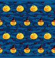 festive seamless pattern halloween characters vector image