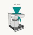 filter drip coffee machine sketch vector image