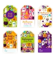 Halloween Gift Tag Labels vector image