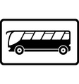 icon with black isolated bus vector image