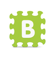letter B written with alphabet puzzle vector image