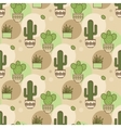pattern of cacti Linear vector image