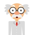 scientific character isolated icon design vector image