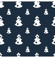 Seamless pattern with christmas trees blue vector image