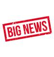 Big News rubber stamp vector image