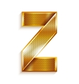 Letter metal gold ribbon - Z vector image