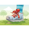 Small Sneaker on the Grass vector image vector image
