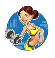 Fitness Sporting girl with vector image vector image