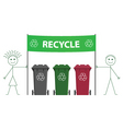 recycling banner vector image
