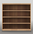 Empty shelves Template for a content vector image