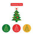 christmas tree line icon vector image