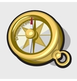 Gold antique compass vector image