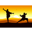 Kungfu Stance vector image