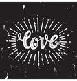 Love and starburst black vector image