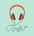 Orange headphones vector image