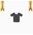 Tee-shirt design template vector image
