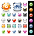Glossy web buttons set vector image
