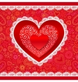 lacy Valentines day hearts greeting card vector image vector image