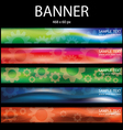 colorful wheel banner vector image vector image