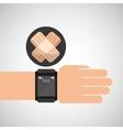 smartwatch device health plaster symbol vector image