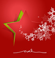 Abstract background with Christmas star and NOEL vector image vector image