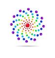 abstract circle dots 3d logo iconxa vector image