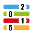 happy new year color symbol vector image