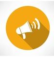 megaphone - loudspeaker icon vector image vector image