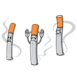 Cartoon cigarette characters vector image vector image