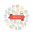 Beauty Outline Concept vector image vector image