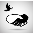 Help design hand icon flat vector image
