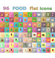food flat icons 03 vector image