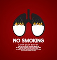 Cigarettes Ash In Lung-No Smoking Concept vector image
