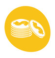 coins currency money stack icon color vector image