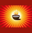 diwali festival or christmas background vector image