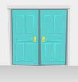 Interior doors hinged bivalve swings door Colored vector image