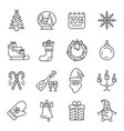 new year icons christmas party elements vector image