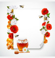 paper and honey composition vector image
