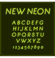 Neon Italic Font Type Alphabet Glowing in With vector image