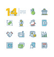 finance - colored modern single line icons set vector image