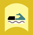 flat icon design collection water bike vector image