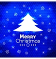 Merry Christmas tree card abstract blue background vector image vector image
