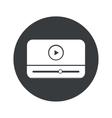 Monochrome round mediaplayer icon vector image