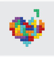 valentines day card video game colorful heart vector image