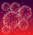 red fireworks vector image vector image
