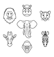 African flat animals vector image