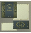 Greeting or invitation cards Cover with vintage vector image